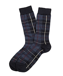 Tartan Multi-Plaid Crew Socks