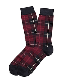 Tartan Multi Plaid Crew Socks
