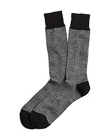 Marled Ribbed Crew Socks