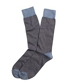 Micro Stripe Crew Socks