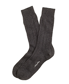Ribbed Cashmere Crew Socks
