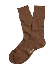 Ribbed Saxxon Wool Crew Socks