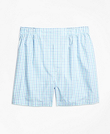 Slim Fit Two-Tone Gingham Boxers