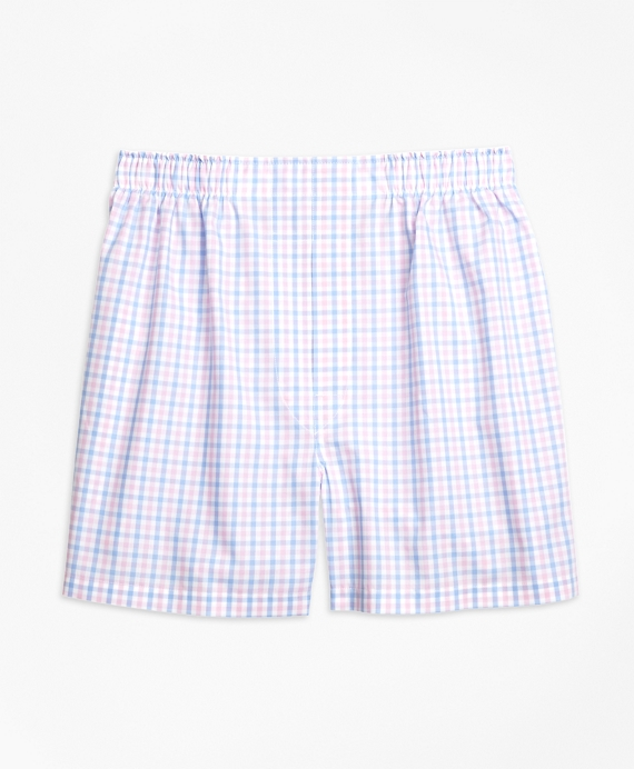 Slim Fit Two-Tone Gingham Boxers Pink