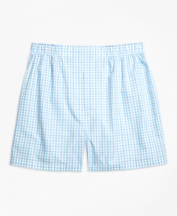 Traditional Fit Two-Tone Gingham Boxers