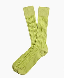 Cable Crew Socks