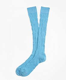 Cable Over-the-Calf Socks