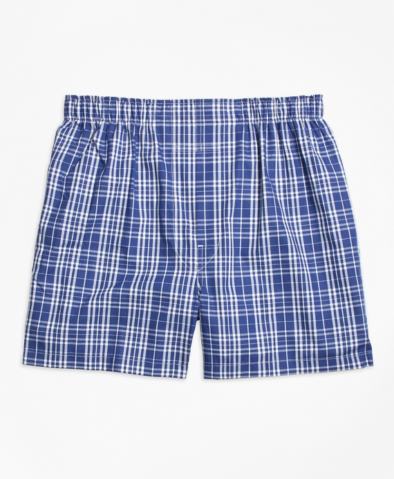 Traditional Fit Large Plaid Boxers
