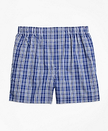 Slim Fit Large Plaid Boxers