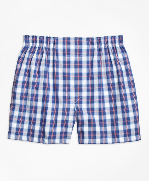 Traditional Fit Large Split Check Boxers