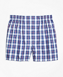 Slim Fit Large Split Check Boxers