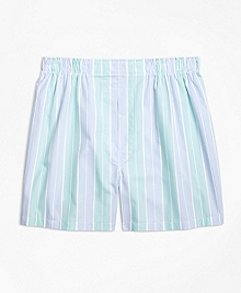 Slim Fit Alternating Bold Stripe Boxers