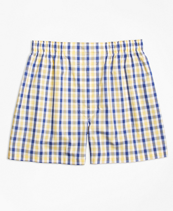 Traditional Fit Shadow Check Boxers