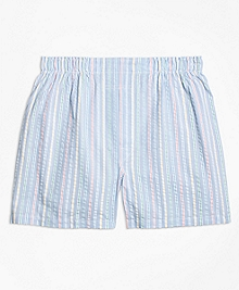 Traditional Fit Seersucker Multi Stripe Boxers