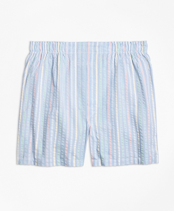 Slim Fit Seersucker Multi Stripe Boxers