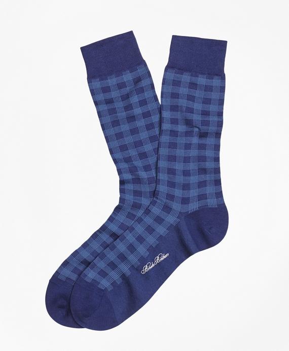 Spiral Grid Crew Socks