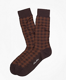 Spiral Grid Crew Socks
