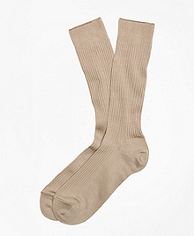 Ribbed Supima® Cotton Crew Socks