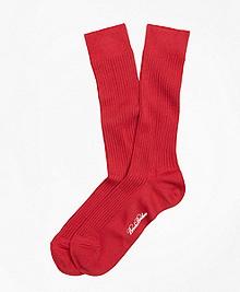 Ribbed Supima® Cotton Crew Socks