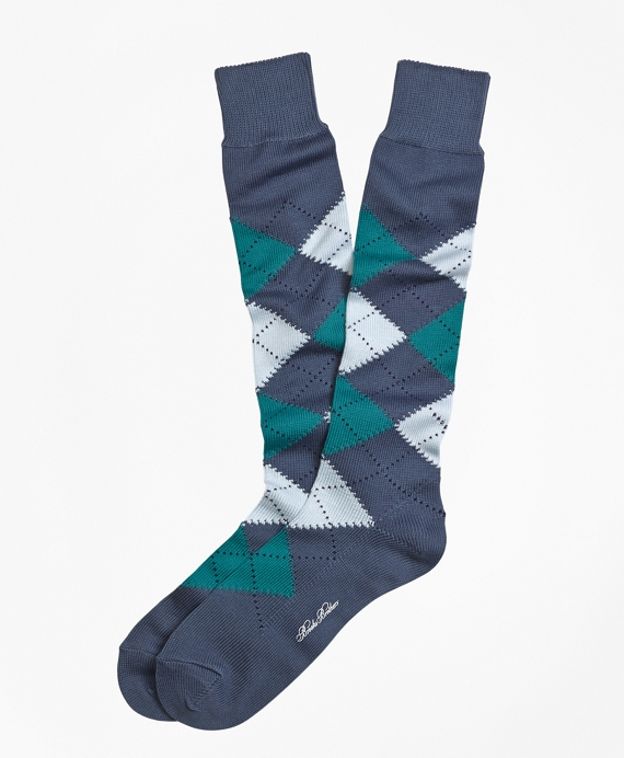Argyle Over-the-Calf Socks