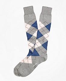 Argyle Over-the-Calf Socks