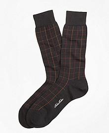 Windowpane Crew Socks