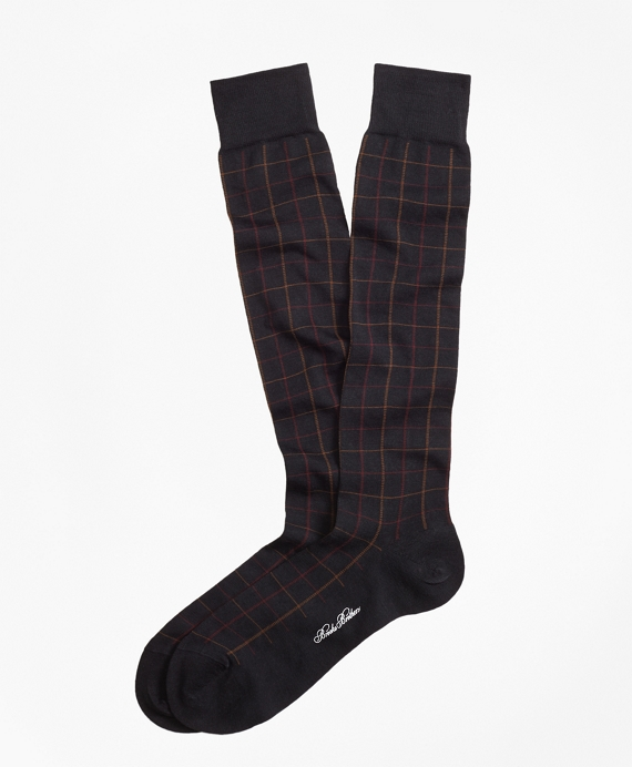 Windowpane Over-the-Calf Socks