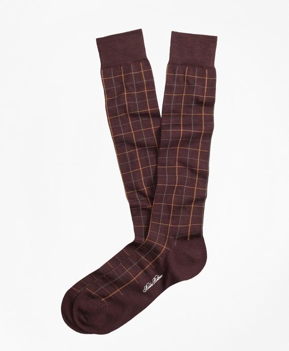 Windowpane Over-the-Calf Socks