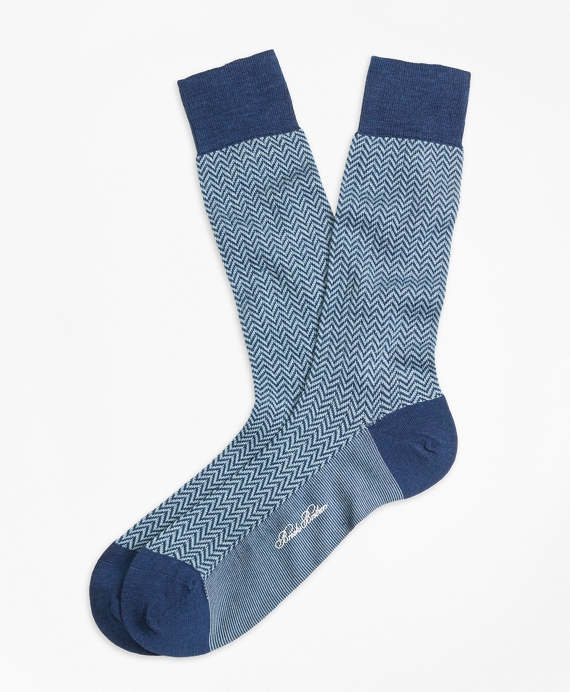 Herringbone Crew Socks
