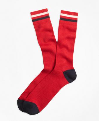Kennedy Stripe Crew Socks
