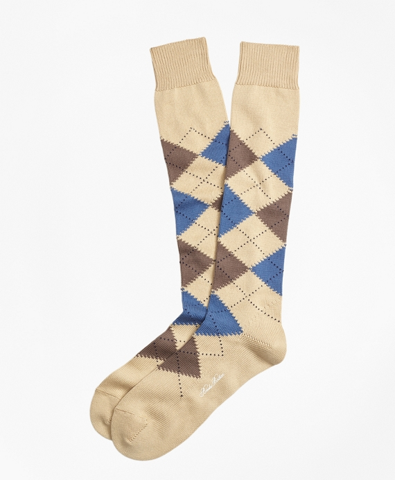 Cotton Argyle Over-the-Calf Socks