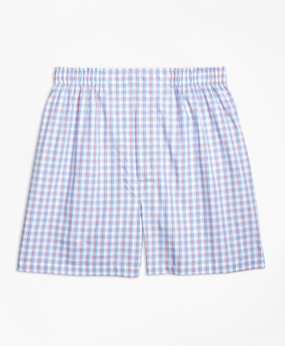 Traditional Fit Hairline Framed Check Boxers