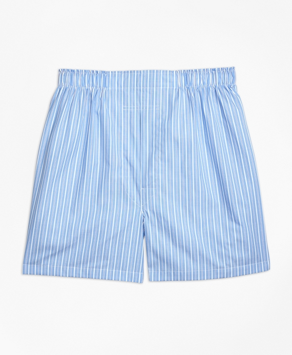 Traditional Fit Bold Stripe Boxers Light Blue