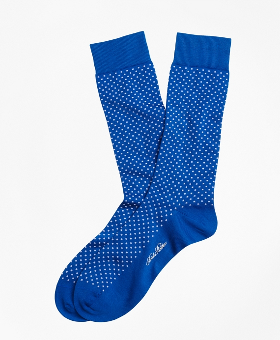 Bright Dot Crew Socks Blue
