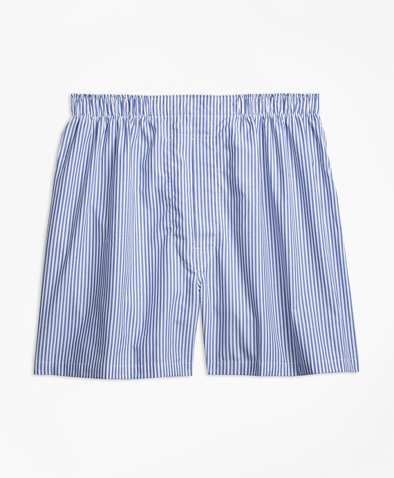 Traditional Fit Candy Stripe Boxers Blue