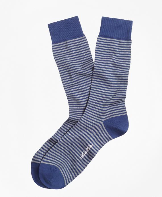 Stripe Crew Socks Blue