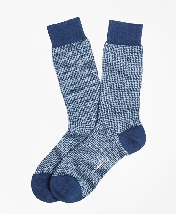 Houndstooth Crew Socks BLUE