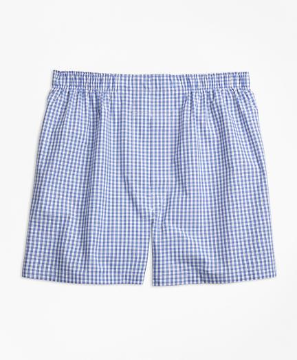 Traditional Fit Mini-Split Check Boxers