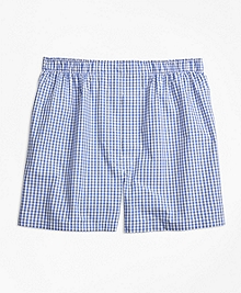 Traditional Fit Mini-Split Check Boxers