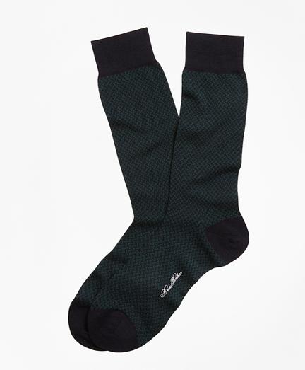 Basketweave Crew Socks