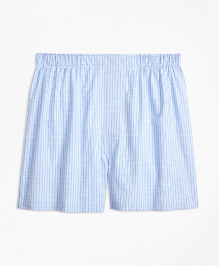 Traditional Fit Split Ground Check Boxers