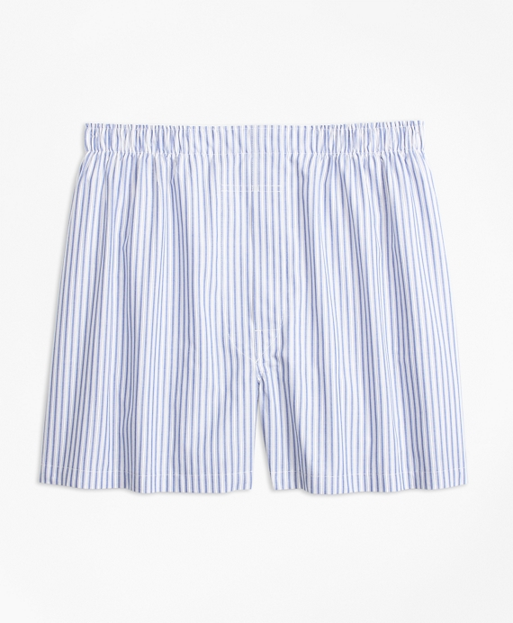 Traditional Fit Alternating Stripe Boxers Blue