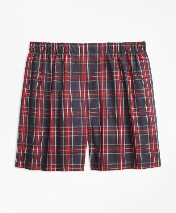 Traditional Fit Royal Stewart Tartan Boxers Black-Red