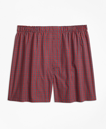 Traditional Fit Mini-Tartan Boxers