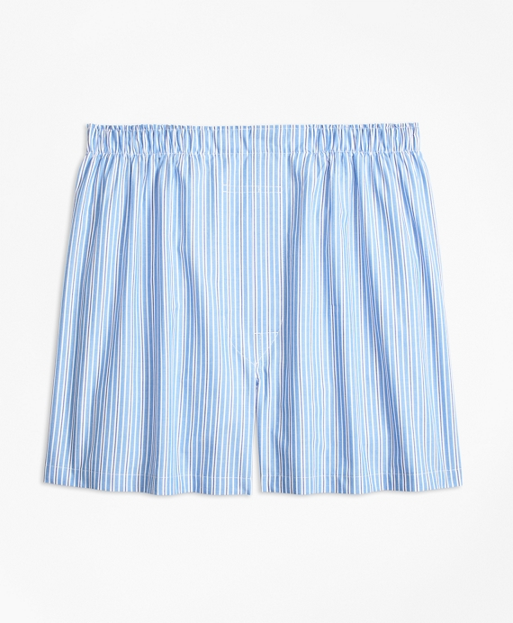 Traditional Fit Split Stripe Boxers Blue