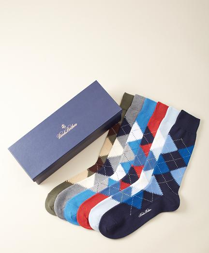 The Argyles - Six-Pair Socks Gift Set