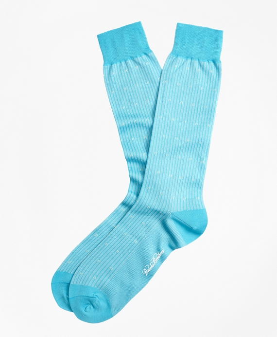 Stripe Dot Crew Socks