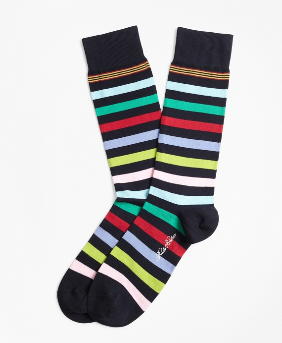 Multi-Stripe Crew Socks Multi