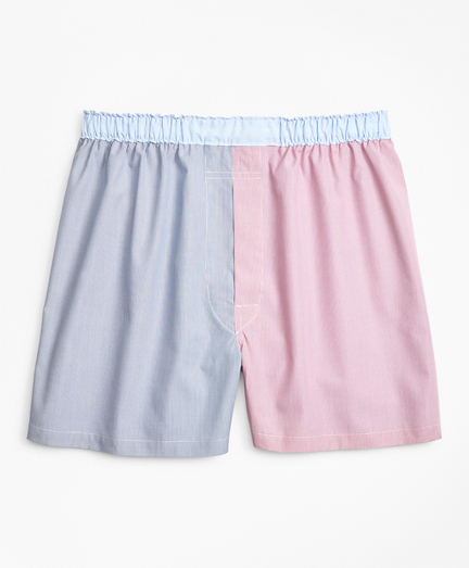 Traditional Fit Fun Hairline Stripe Boxers