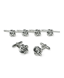Sterling Oversized Knot Stud Set